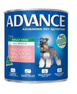 Healthy Dog Food Products Adult. Can (Chcken + Salmon + Rice) 700g