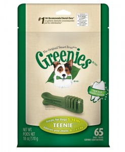 Greenies Dental Chews TreatPack Teenie Dogs - Weight Control Dog Treats