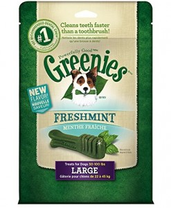 Greenies Freshmint Dental Chews Treat Pack for Large Dogs - Extra Healthy Dog Treats