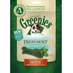 Greenies Freshmint Dental Chews Treat Pack for Petite Dogs - All Natural Dog Health Treats