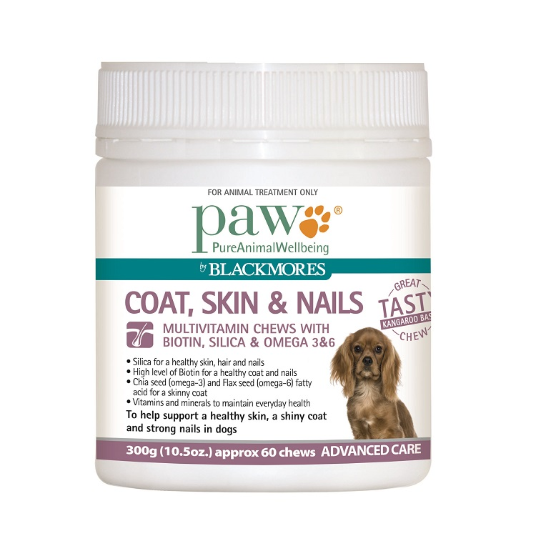 Blackmores Paw Coat, Skin & Nails Multivitamin Chews - All Natural Dog Health Treats