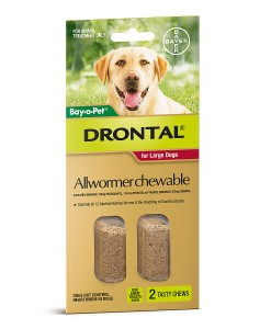 Drontal Allwormer Chewable for Large Dogs - 2 Pack - The Best Pet Shop Australia