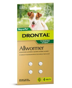 Drontal Allwormer Tablets for Small Dogs & Puppies - Pet Shop Online Australia