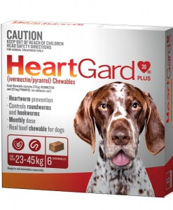 HeartGard 6 Pack Brown 23-45kg - Online Shopping For Dogs