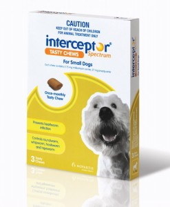Interceptor Spectrum Tasty Chew For Small Dogs - The Best Pet Shop Australia