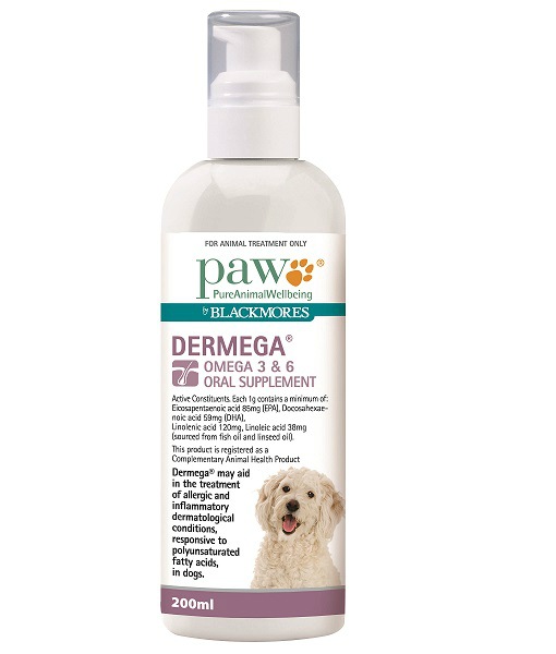 PAW Blackmores Dermega 200ml Mist 510 x 600 - Dental Dog Treats Online