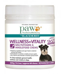 PAW Blackmores Wellness_Vitality 300g Tub 500x500 - Natural Pet Food Online