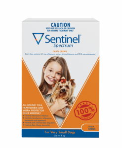 Sentinel Spectrum Tasty Chew Very Small Dogs - The Best Pet Shop Australia