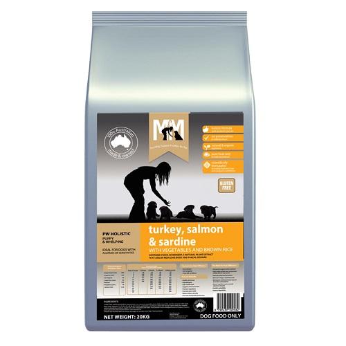 M5172 - MFM PUPPY TURKEY, SALMON AND SARDINE 20KG 500x500 Web - M5263 - MFM PUPPY TURKEY AND CHICKEN 20KG 500x500 Web - Best Dog Food Online