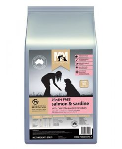 M5183 - MFM GRAIN FREE SALMON AND SARDINE 20KG 500x500 web - Best Dog Food In Australia