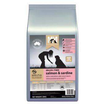 M5183 - MFM GRAIN FREE SALMON AND SARDINE 20KG 500x500 web - Best Dog Food In Australia