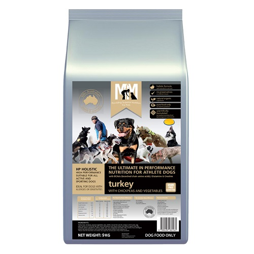 M5184 - MFM HI PERFORMANCE GF 9KG 500x500Web - Best Dog Food In Australia