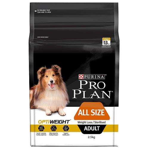 PP146_OptiWeight_AllSize_Adult_2.5KG 50x3-85 - Online Dog Food