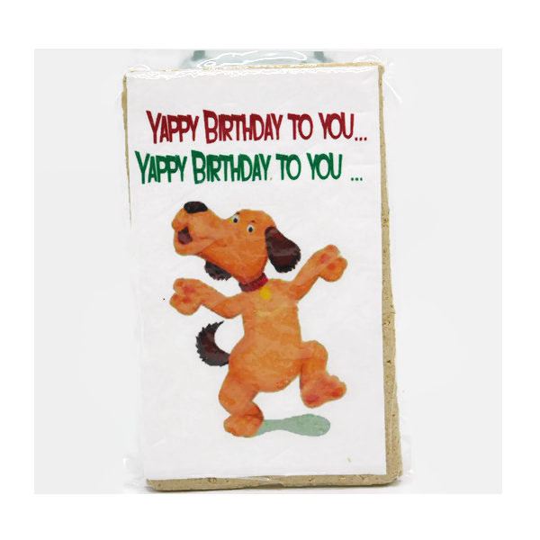 Yappy Birthday To You Edible Card